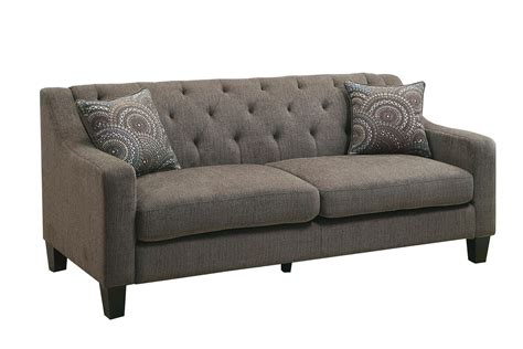 cloth sofas marlene contemporary style mocha chenille fabric sofa couch