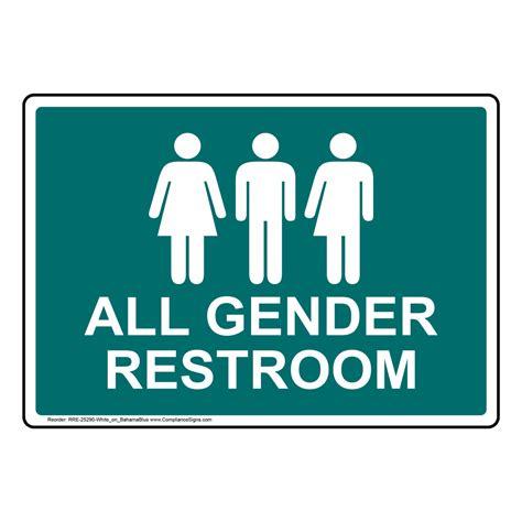 all gender restroom sign rre 25290 whtonbhmablu restrooms