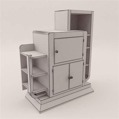 etagere bar bar etagere 3d realistic model artium3d