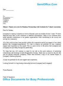 thank you letter for business partnership with gratitude