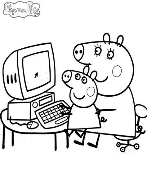 peppa pig coloring pages baby 220 ber 1 000 ideen zu desenhos para colorir peppa auf