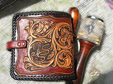 Handmade Western Leather Wallets - custom made tooled carved handmade vegetable tanned