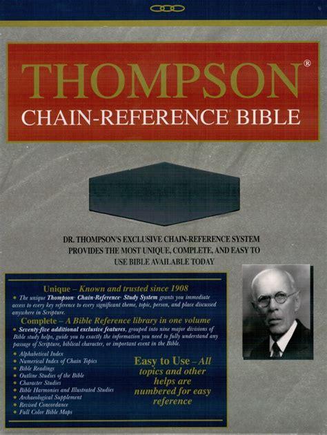 Thompson Chain Reference Bible Kjv thompson chain reference bible kjv bibbia da studio in