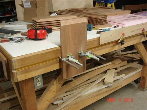 homemade work benches festool cls in t track on homemade workbench incra t