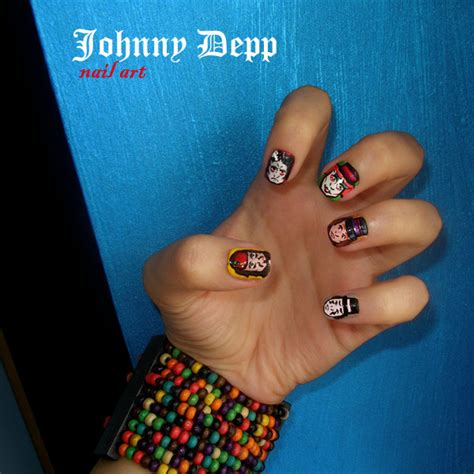 Manicure Pedicure Johnny Andrean johnny s characters nails johnny depp fan 32461169