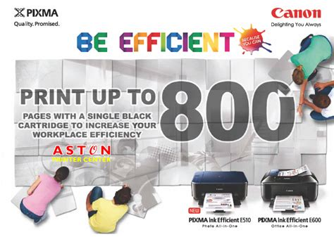Tinta Printer Canon E510 aston printer toko printer canon pixma ink