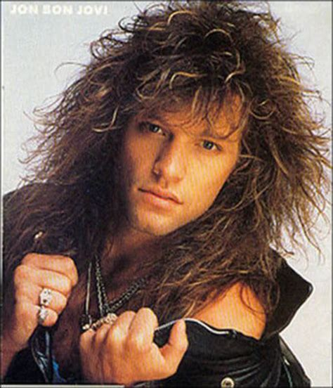 80s hair band hairstyles jon bon jovi 80s big hairstyle for men decades