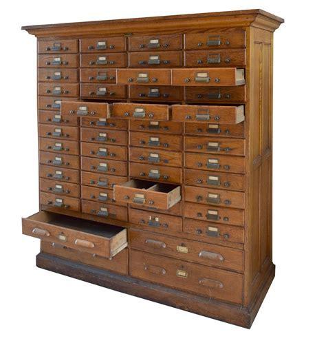 American Oak Multi Drawer File Cabinet For Sale at 1stdibs