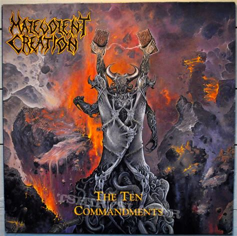 malevolent creation the ten commandments original vinyl tshirtslayer tshirt and battlejacket