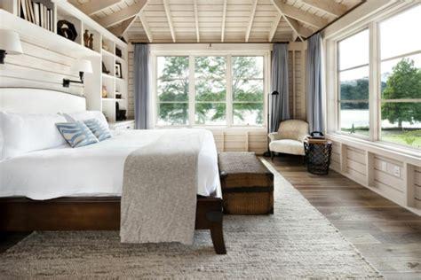 vorhänge chalet schlafzimmer design rustikal