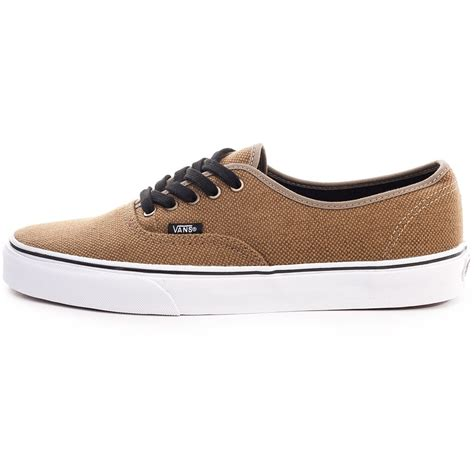 Vans Authentic Jute Walnut Black vans authentic jute mens trainers in walnut