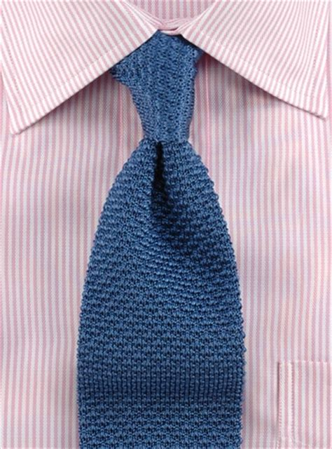 how to tie knitting classic silk knit tie in slate blue