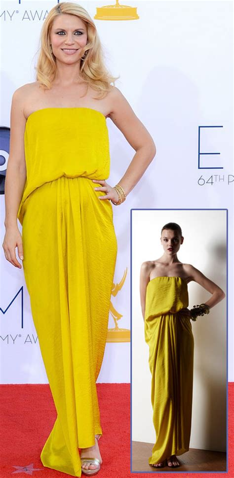 claire danes yellow dress yellow is the new black red carpet dresses set the jewel