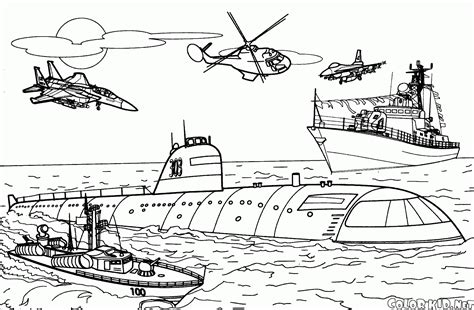 coloring page battleship