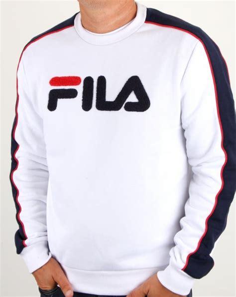 Fila Sweater Gloria White fila vintage toby sweatshirt white s top jumper