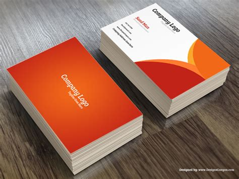 free company business card psd template creative psd business card template free