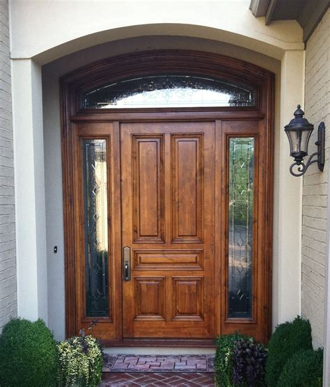 House Exterior Doors Wood Entry Doors Applied For Home Exterior Design Traba Homes
