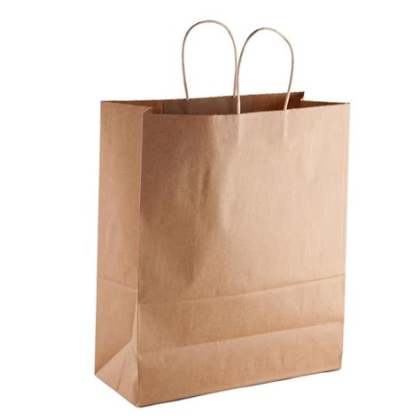 How To Make A Paper Shopping Bag - brown shopping bag with handles 13 x 6 x 16 250 jpg