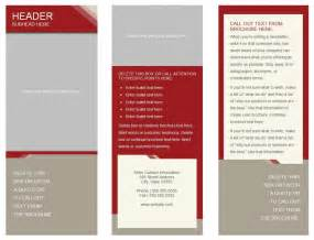 Word Templates For Brochures by Free Tri Fold Brochure Templates For Word Best Agenda