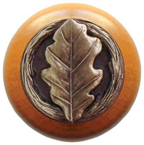 Maple Drawer Pulls by Notting Hill Oak Leaf Maple Wood Knob Antique Brass Rustic Cabinet And Drawer Knobs By