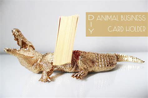 Animal Business Card Holder diy animal business card holder preciously me