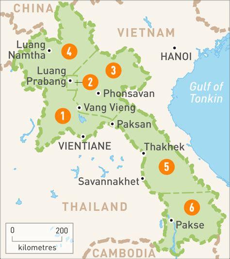 map of laos map of laos laos regions guides