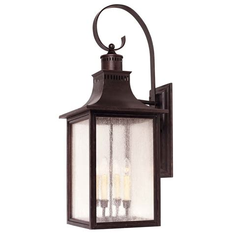 Savoy House Outdoor Lighting Pale Seeded Glass Outdoor Wall Light Bronze Savoy House 5 257 13 Destination Lighting