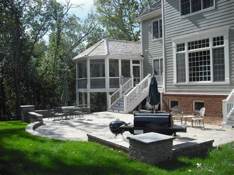 screened porch deck and patio combination project