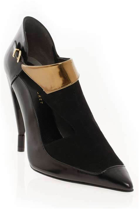 cutout boots roland mouret cutout boot with gold in black lyst