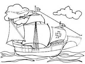 christopher columbus coloring pages columbus day coloring page christopher columbus s ship