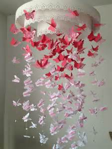 How To Make Beaded Chandelier Paper Lace Chandelier Monarch Butterfly Mobile Pink And