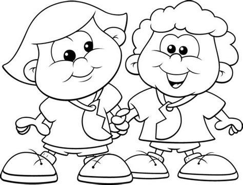 imagenes para colorear sobre la amistad imagenes de amistad para colorear