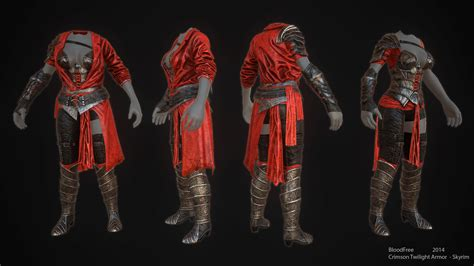 crimson ranger armor skyrim mod mod crimson twilight armor cbbev3 bodyslide unp 7b