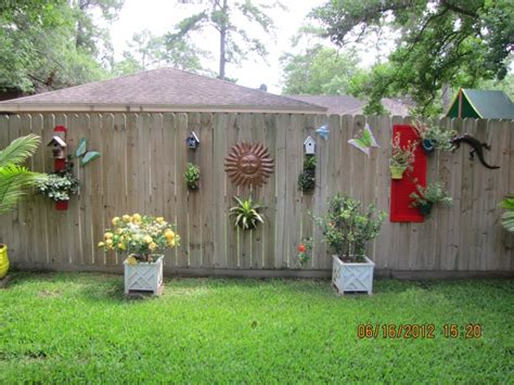 home outside decor decoration charming outdoor fence decorations for awesome