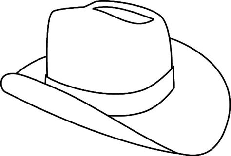 cowboy hat outline clipart best