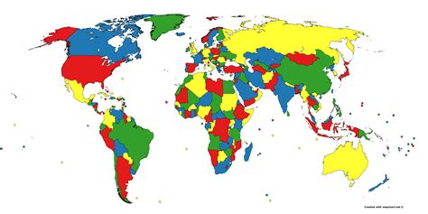 colors of the world is the world map four colorable flyga natten