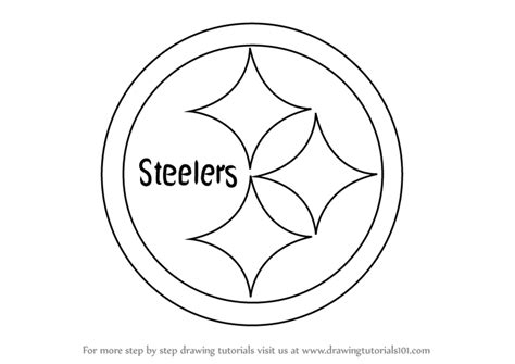 nfl symbols coloring pages learn how to draw pittsburgh steelers logo nfl step by