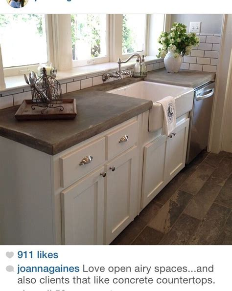 For Newlyweds Hgtvs Fixer Upper With Chip And Joanna Chip Gaines Concrete Countertops