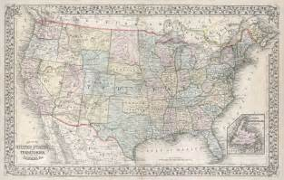 www map of the united states file 1867 mitchell map of the united states geographicus