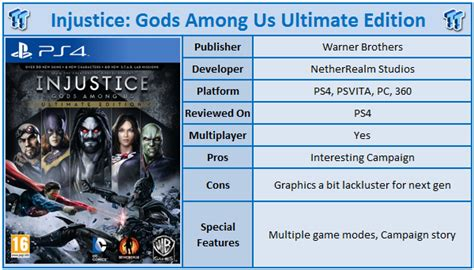 Injustice Gods Among Us Ultimate Edition Reg 1 injustice gods among us ultimate edition playstation 4 review