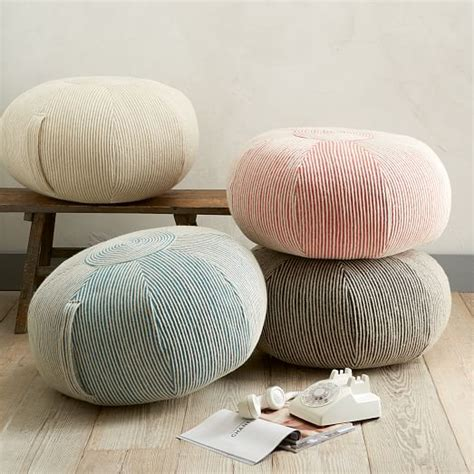big pillows to sit on swirl pouf west elm