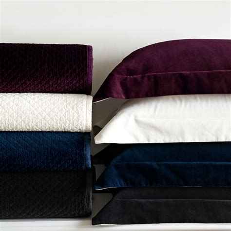 velvet blankets and comforters classic velvet bedding williams sonoma