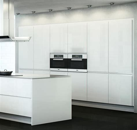 White Gloss Kitchen Cabinet Doors White Gloss Handleless Kitchen Cabinet Doors Contemporary Kitchen Cabinets West By