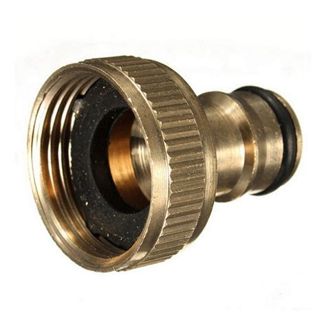 3 Inch Plumbing Fittings by 3 4 Inch Brass Threaded Garden Hose Water Sprayer Tap