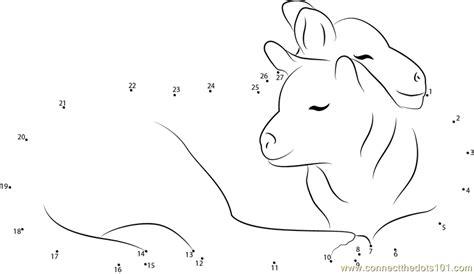 printable dot to dot sheep affectionate sheep small dot to dot printable worksheet