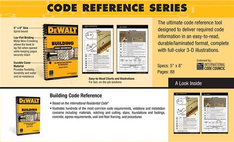 Icc Plumbing Code by Dewalt Icc Code Reference Guides For Pros Tool Box Buzz