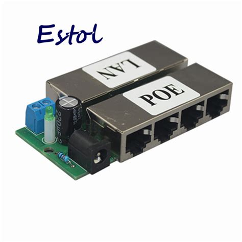 Adaptor 10 Ere free shipping 4 lan ports passive poe adapter pin 4 5 7 8