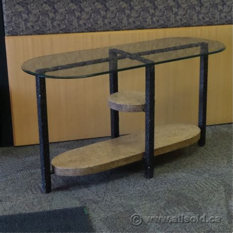 Glass Hallway Table Metal Bevelled Glass Hallway Table Allsold Ca Buy Sell Used Office Furniture Calgary