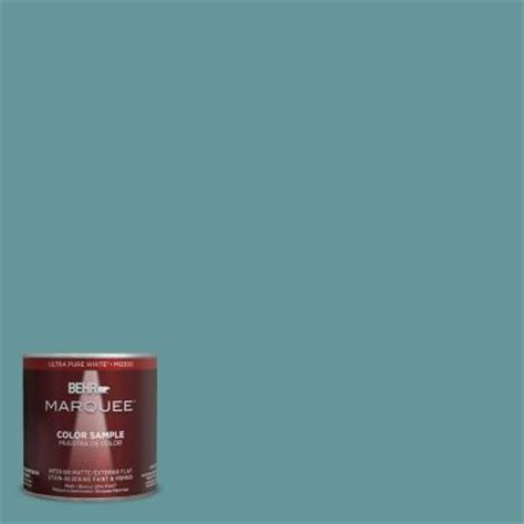 behr marquee 8 oz mq6 33 vintage teal interior exterior paint sle mq30416 the home depot
