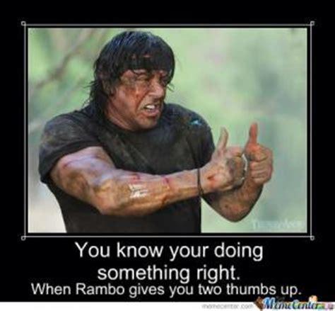 Rambo Meme - doing it right memes kappit